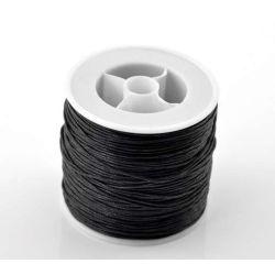 Waxed Cord, Black, .5mm, 80 metres