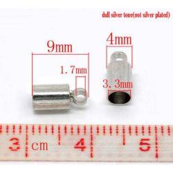 Antique Silver End Caps, 9x4mm, fits 3mm cord, 200pcs