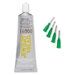 """E6000 Glue, 1 oz, Jewellery and Bead Glue,  includes 4 tips """" Best Seller"""""""