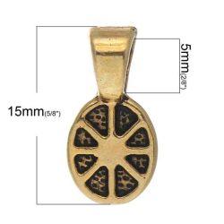Antique Gold Plate Bails, 15 x 8mm, Bag of 300 pcs