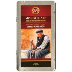 Mondeluz Aquarell Watercolor Pencils 12/Pkg - for Adult Colouring