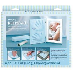 Sculpey - Keepsake Clay Frame Set, Boy (blue)