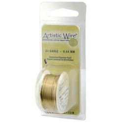 Artistic Wire Non tarnish Brass, 20 gauge,  6 yards