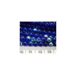 Czech beads round 6mm ab/cobalt  11inch strd