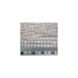 Czech beads round 4mm lt rosaline 7inch strand