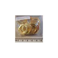 Gold Plastic Flat Donut Charm 23mm 12 pcs