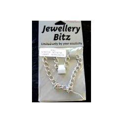 Antique Silver Chain, Bracelet, 18cm