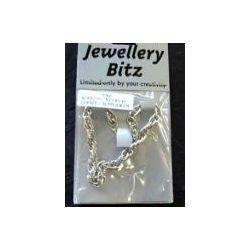 Antique Silver Chain, Bracelet, Twisted, 18cm