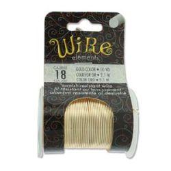 Beadsmith Non Tarnish Craft Wire Range, Gold