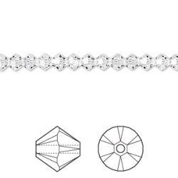 Swarovski Bicone Crystal 4mm, Crystal 48 pcs, 5328