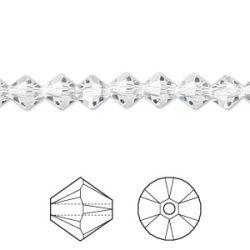 Swarovski Bicone Crystal 6mm, Crystal Clear 24 pcs, 5328