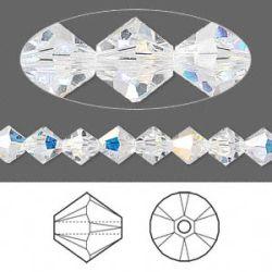Swarovski Bicone Crystal 6mm, Crystal Ab 24 pcs, 5328