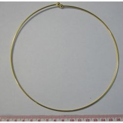 Gold Plate Neck Ring, 14cm, 1pc