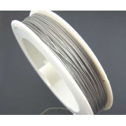 Antique Silver Tiger Tail Beading Wire  0.38mm, 70 metres