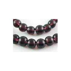 Dark Purple Round Glass Beads 8mm , 1 strand