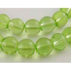 Light Green Glass Beads, 8mm,  14in strd