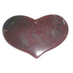 Indian agate heart pendant (40x65mm) 1 pc