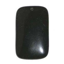 Black onyx rectangle pendant (30x50mm), 1pc
