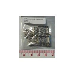 Antique Silver, 3 hole spacer bar, 15 x 10mm, 6pcs