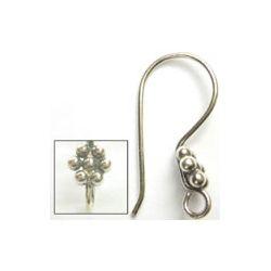 Bali Silver, Ear Hooks one pair