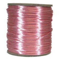 Rattail Satin Cord 3mm Pink, 4 Metres