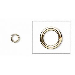 Jump Rings Gold Plate 18 gauge 5mm, 100pcs
