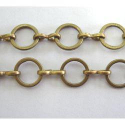 Antique Bronze Round Chain, 8mm,  3 metres