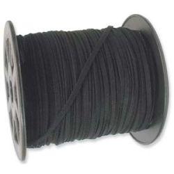 Ultra Micro Fibre Suede 3mm Black 5 metres, A Grade Cord