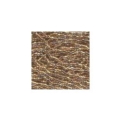 Czech Seed Beads 6/0 Crystal Bronze Lined Ab. 6 strands
