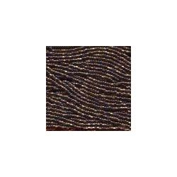 Czech Seed Beads 6/0 Black Diamond Crystal Lined AB. 6 strands