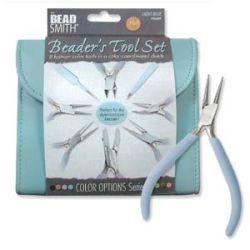 The Beadsmith Beaders Tool Set, Light Blue,