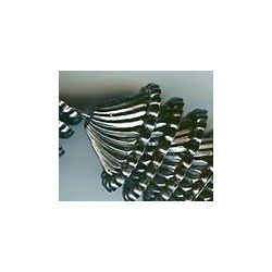 Spiral cone antique silver plated vintage lucite beads,  18x9mm, 10 beads