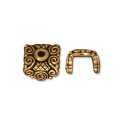 Antique Gold, Cap for Pendants, 8mm, 1pc