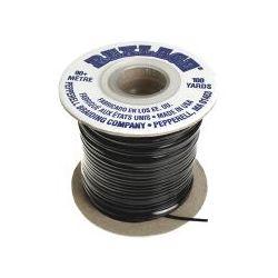 Rex Lace, Vinyl Lacing Flat, 2mm, Black  5 metres