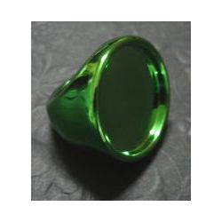 Green Acrylic Ring Frame, ring top is 30mm, face is 25mm 1pc
