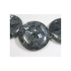 Norwegian Moonstone Beads,  Natural, Flat Round, bead: 35mmx11mm, hole: 1mm, 2pcs
