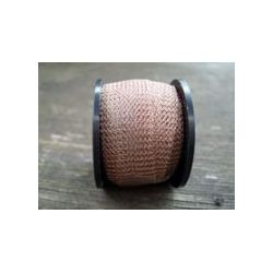 Tube Ribbon Wire Mesh, 15mm x 0.1mm Light Brown,  1 metre - thick