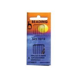 Beading Needles size 12, 6 pcs