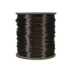 Rattail Satin Cord 3mm Brown 4 metres