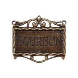 Madame Delphine's Bourbon-Oxidized Brass Pendant, 45 x 40mm, 1/Pkg