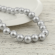 Wooden Beads Round, 11mm, Silver,  2 x 45 cm strands
